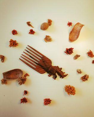 Peigne afro – Bois d'ébène